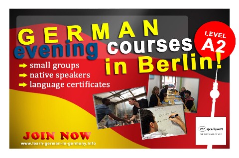 A2 German Evening courses Berlin