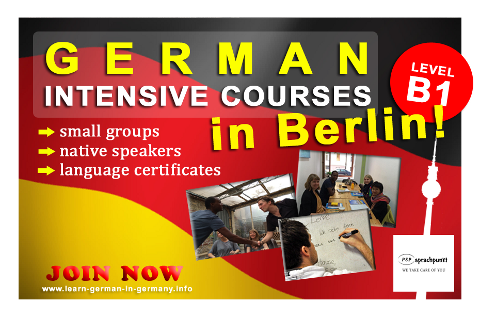 B1 German Intensive courses Berlin