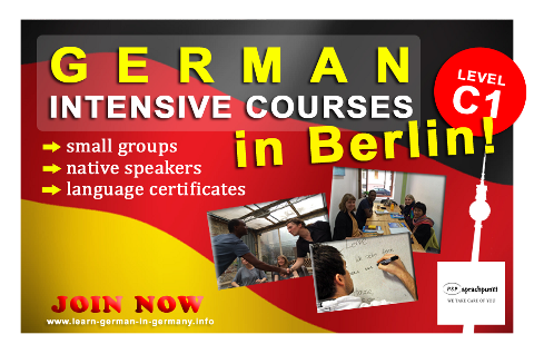 C1 German Intensive courses Berlin